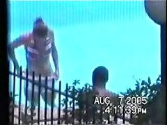 Hidden Interracial Teen sex at the pool