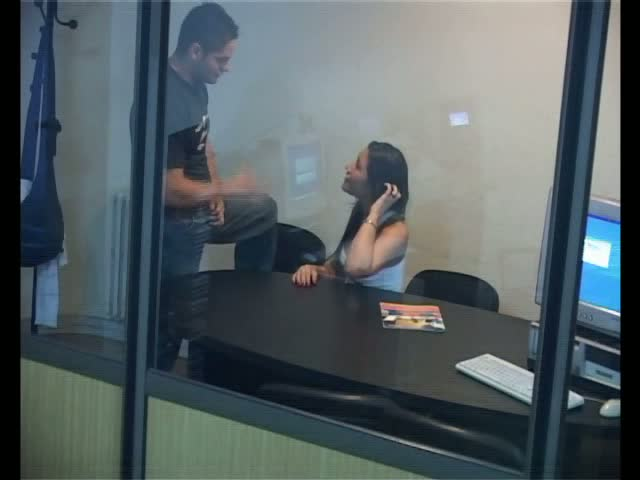 Voyeur office sex