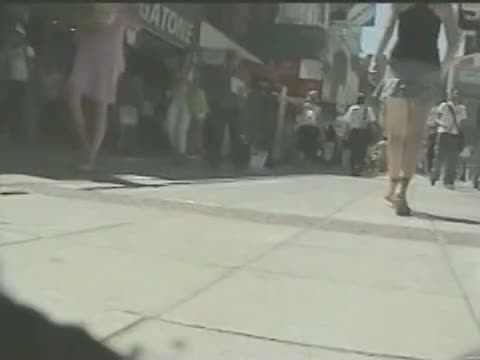 Horny street voyeur loves filming seductive girls upskirt.