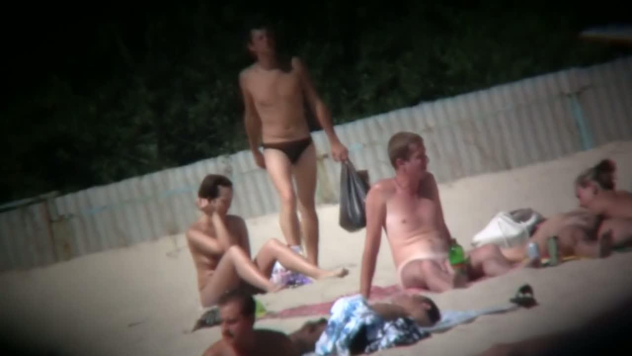 My own beach voyeur video of nude hot girls sunbathing