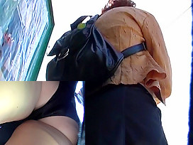 Arse in panty upskirt movie