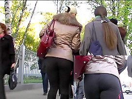Excellent constricted leggins wazoo video