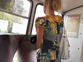 Free up petticoat booty pussy on public transport