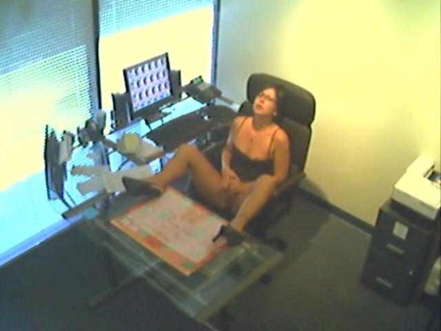 Fingering at Bosses Desk