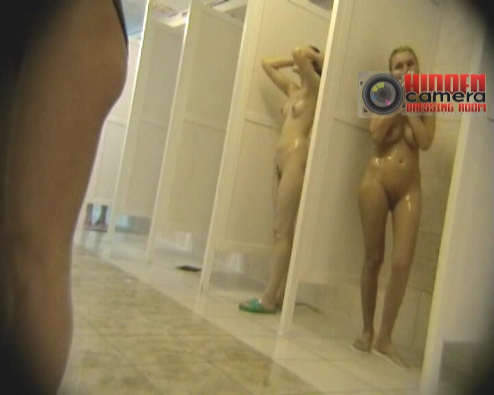 Cute young girls exposed in a voyeur shower cam video