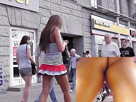 Fashion model upskirt footage