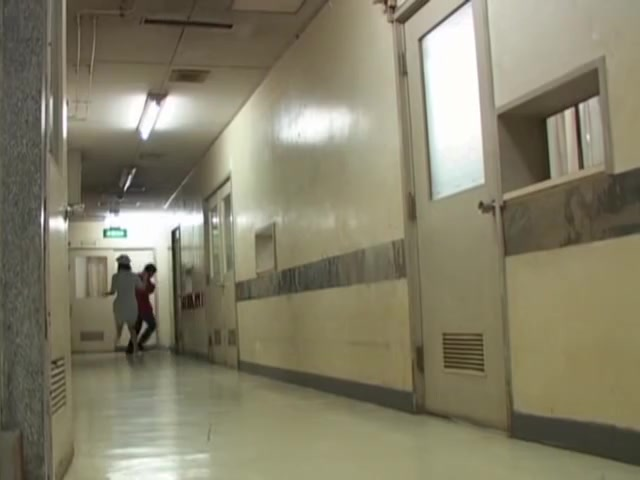Empty corridor is a great place for shooting sharking clip