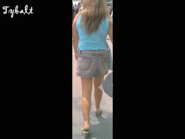 Full back white panty on the new upskirt video