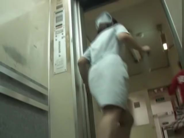Pink panty ass of the beautiful sharked medical worker