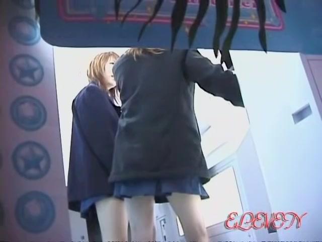 Tw girls working at the copy machine got skirt sharked