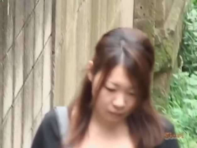 Skirt sharking followed by the hair removal from her twat