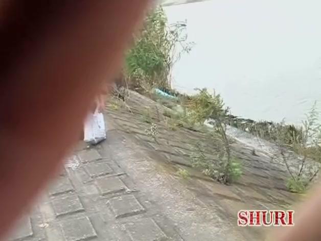 Pretty Japanese girl's ass hole filmed for a sharking video