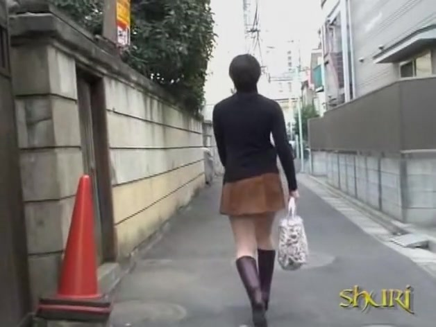 Stalker uncovered her ass like a pro skirt sharker