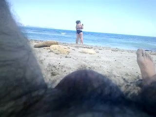flashing beach at two matures