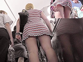 Very gracious escalator upskirt