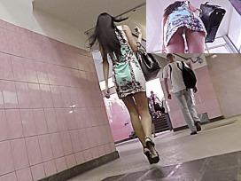 Subway summer suit upskirt
