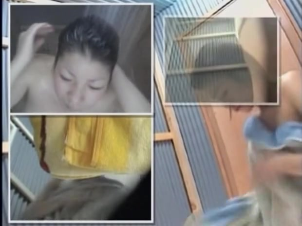 Naked Asian girl in changing room baring off hairy beaver dvd 003