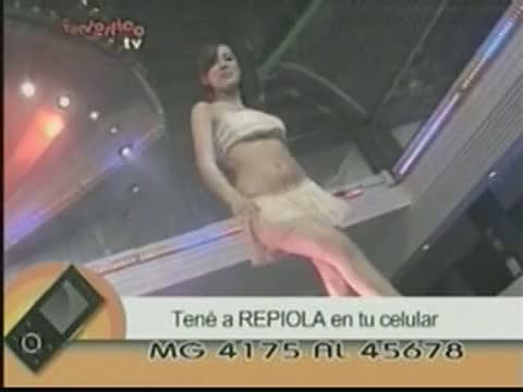 Hot up skirt shots of tv girls dancing seductively