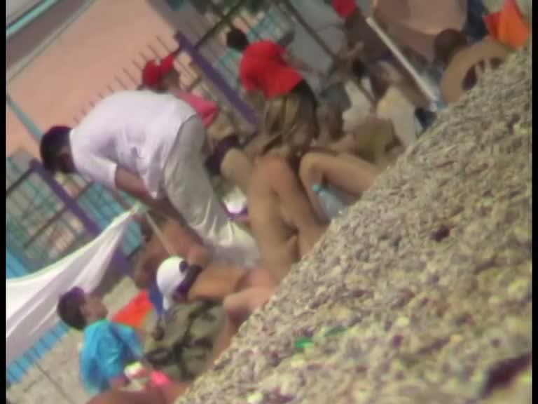 Excellent nude beach voyeur video