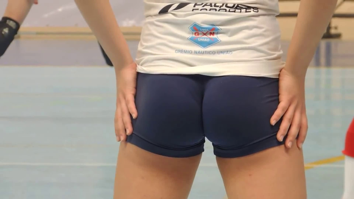 Playing volleyball with a taut shorts - Part two of two