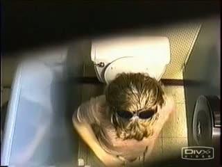 Cute girl in short little shorts shot on spy cam in toilet