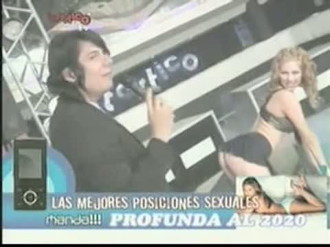 Up skirt video of hot models from Spanish television show