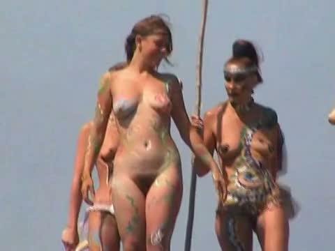 Hot hippie nudist chicks beach voyeur vid