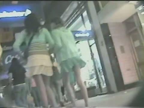 Epic public voyeur up skirt video of a white chick