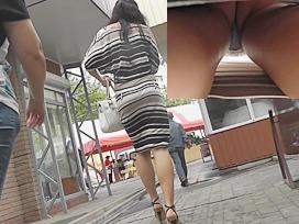 Striped suit up petticoat lascivious view on webcam