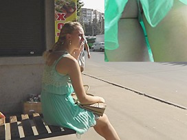Real Russian girl public upskirt