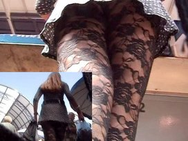 Darksome hose upskirt