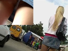 2-in-one hawt upskirt video