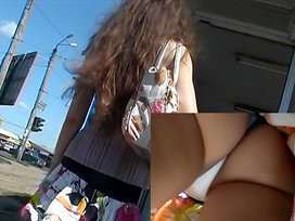 Perfection at it's superlatively good upskirt