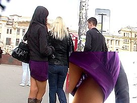 View up mini violet costume