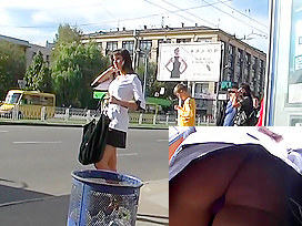 Handsome playgirl's candid upskirt